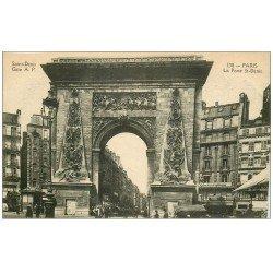 carte postale ancienne PARIS 10. Boulevard Porte Saint-Denis Cinématographique derrière