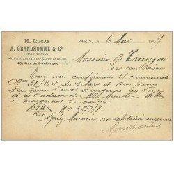 carte postale ancienne PARIS 10. Carte Correspondances 1907 du 48 Rue de Dunkerque pour Port-sur-Saône