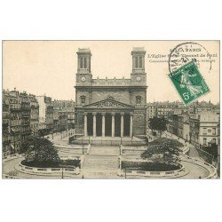 carte postale ancienne PARIS 10. Eglise Saint-Vincent de Paul 1912