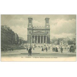 carte postale ancienne PARIS 10. Eglise Saint-Vincent-de-Paul vers 1900
