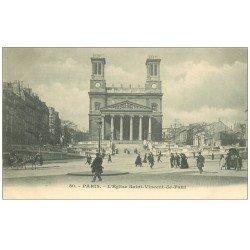 PARIS 10. Eglise Saint-Vincent-de-Paul vers 1900