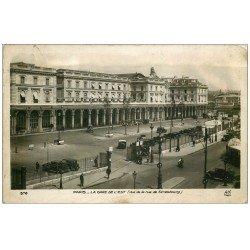 carte postale ancienne PARIS 10. Gare de l'Est 1938