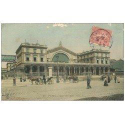 carte postale ancienne PARIS 10. Gare de l'Est 1906