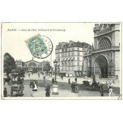 PARIS 10. Gare de l'Est et Boulevard de Strasbourg 1907