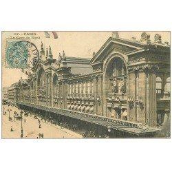 carte postale ancienne PARIS 10. Gare du Nord 1905