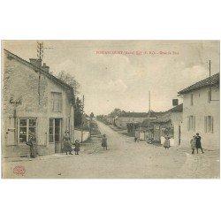 carte postale ancienne 10 BOSSANCOURT. Grande Rue 1917