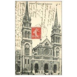 carte postale ancienne PARIS 11. Eglise Saint-Ambroise 1908