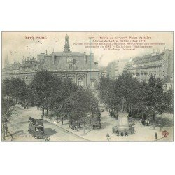 carte postale ancienne PARIS 11. La Mairie Place Voltaire 1905. Collection Fleury