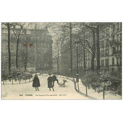 carte postale ancienne PARIS 11. Le Square Parmentier 1913