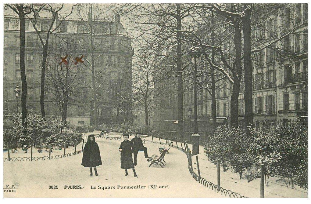 PARIS 11. Le Square Parmentier 1913