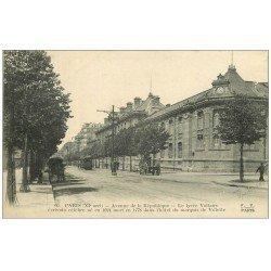 carte postale ancienne PARIS 11. Lycée Voltaire Avenue de la République