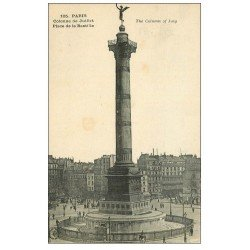 carte postale ancienne PARIS 11. Place de la Bastille 105
