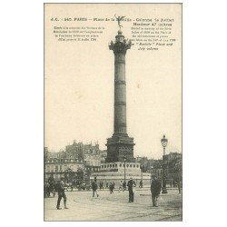 carte postale ancienne PARIS 11. Place de la Bastille 540