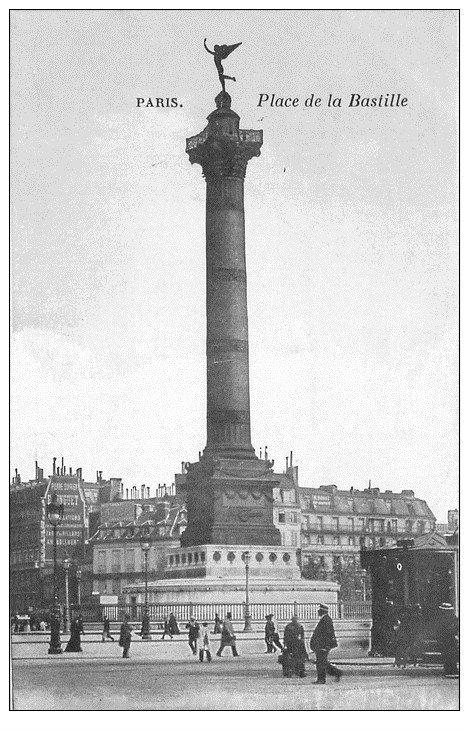 PARIS 11. Place de la Bastille bleutée