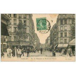 PARIS 11. Rue de Charonne au Boulevard Voltaire 1924. Panneau Byrrh