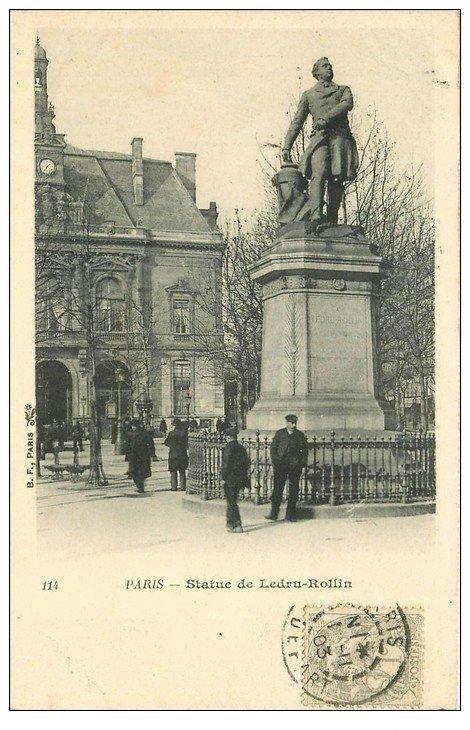 PARIS 11. Statue Ledru-Rollin Place Voltaire 1903