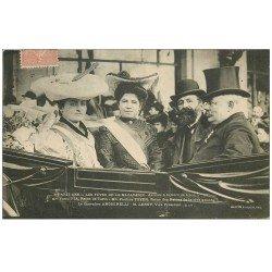 carte postale ancienne PARIS 12. Arrivée Reine de Turin Gare de Lyon Fêtes Mi-Carême 1905