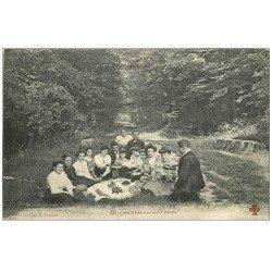 carte postale ancienne PARIS 12. Bois Vincennes. Déjeuner sur l'Herbe. Collection Fleury