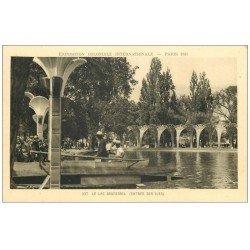 carte postale ancienne PARIS 12. Bois Vincennes. Lac daumesnil expo 1931