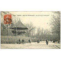 carte postale ancienne PARIS 12. Bois Vincennes. Le Kiosque Rustique 1911