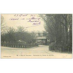 carte postale ancienne PARIS 12. Bois Vincennes. restaurant Plateau de Gravelle 1903