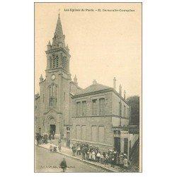 carte postale ancienne PARIS 12. Eglise Immaculée-Conception rue du Rendez-Vous