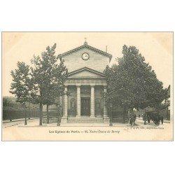 carte postale ancienne PARIS 12. Eglise Notre-Dame de Bercy