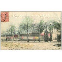 carte postale ancienne PARIS 12. Hôpital Saint-Antoine Boulevard Diderot 1906