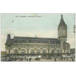 carte postale ancienne PARIS 12. La Gare de Lyon 114