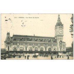 carte postale ancienne PARIS 12. La Gare de Lyon 1907