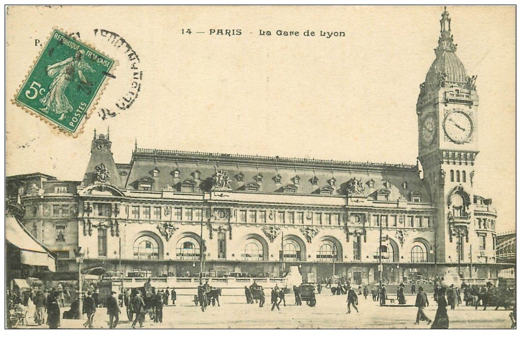 PARIS 12. La Gare de Lyon 1911