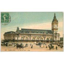 carte postale ancienne PARIS 12. La Gare de Lyon 1913