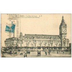 carte postale ancienne PARIS 12. La Gare de Lyon 1922