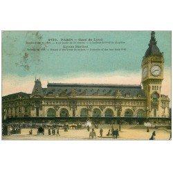 carte postale ancienne PARIS 12. La Gare de Lyon 1923
