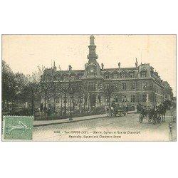 carte postale ancienne PARIS 12. La Mairie Square et rue de Charenton 1923