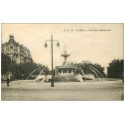 carte postale ancienne PARIS 12. La Place Daumesnil