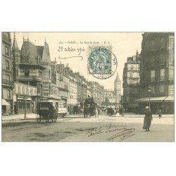 carte postale ancienne PARIS 12. La Rue de Lyon 1904