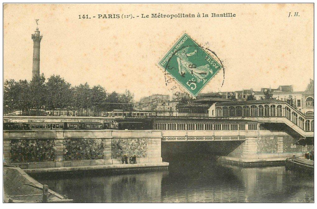 PARIS 12. Le Métropolitain à la Bastille 1911