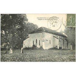 carte postale ancienne 10 CHAMPIGNOL-LEZ-MONDEVILLE. Chapelle et Femmes 1923
