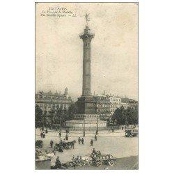 carte postale ancienne PARIS 12. Place de la Bastille 175