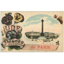 PARIS 12. Place de la Bastille avec Pensée