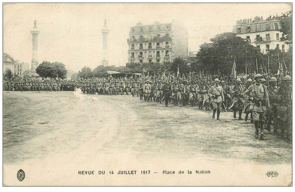 PARIS 12. Place de la Nation Revue 14 Juillet 1917