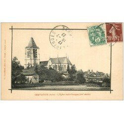 carte postale ancienne 10 CHAVANGES. Eglise Saint-Georges 1927