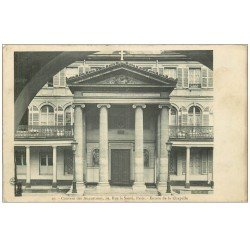 carte postale ancienne PARIS 13. Chapelle Couvent Augustines Rue la Santé 1908