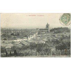 carte postale ancienne 10 CHAVANGES. Vue générale de la Ville 1906. Animation...