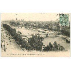 carte postale ancienne PARIS 13. La Seine vue du Pavillon de Flore 1907