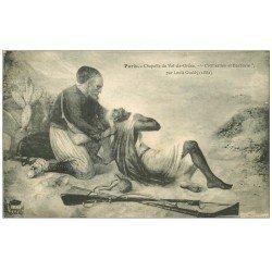 carte postale ancienne PARIS 14. Chapelle Val-de-Grâce. Civilisation Barbarie par Guédy 1914