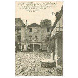 carte postale ancienne PARIS 14. Cour 94 Avenue d'Orléans