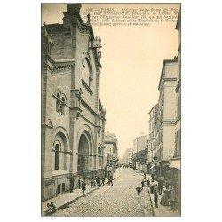carte postale ancienne PARIS 14. Eglise Notre-Dame du Travail rue Vercingétorix