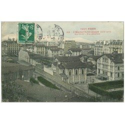 carte postale ancienne PARIS 14. Hôpital Saint-Joseph rue Didot 1908